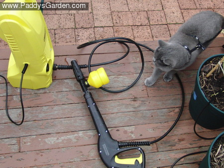 Paddy's high pressure washer with soap attachment